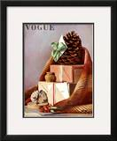 Vogue Cover - December 1936 Framed Giclee Print by Pierre Roy
