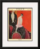 Vogue Cover - July 1920 Framed Giclee Print by Georges Lepape