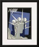 Vogue Cover - February 1939 Framed Giclee Print by Witold Gordon