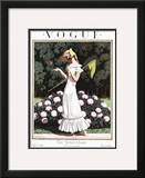 Vogue Cover - April 1924 Framed Giclee Print by Pierre Brissaud