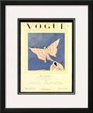 Vogue Cover - February 1925 Framed Giclee Print by Charles Martin