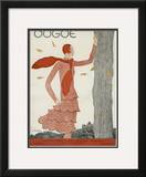 Vogue Cover - August 1929 Framed Giclee Print by Georges Lepape