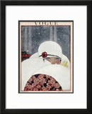 Vogue Cover - January 1919 Framed Giclee Print by Georges Lepape