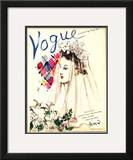Vogue Cover - April 1937 Framed Giclee Print by Christian Berard