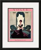 Vogue Cover - August 1925 Framed Giclee Print by Pierre Brissaud
