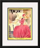 Vogue Cover - April 1927 Framed Giclee Print by William Bolin