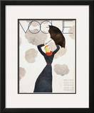 Vogue Cover - February 1933 Framed Giclee Print by Georges Lepape