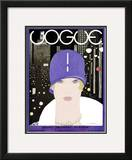 Vogue Cover - March 1927 Framed Giclee Print by Georges Lepape
