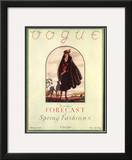 Vogue Cover - February 1922 Framed Giclee Print by Leslie Saalburg