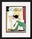 Vogue Cover - May 1928 Framed Giclee Print by Pierre Mourgue