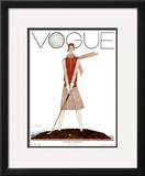 Vogue Cover - July 1929 Framed Giclee Print by Georges Lepape