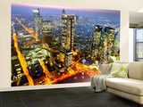 The Frankfurt, Germany, Skyline is Seen at Sunset Wall Mural  Large