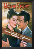 Hepburn, Katharine - Movie Story Magazine Cover 1940's Poster