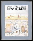 The New Yorker Cover, View of the World from 9th Avenue - March 29, 1976 Posters by Saul Steinberg