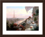 Dinner on the Terrace Art by Christa Kieffer