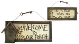 Two Sided Porch Wood Sign Wood Sign