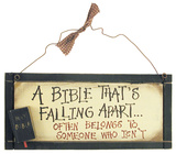 Frayed Bible Wood Sign Wood Sign