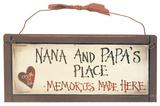 Nana and Papas Wood Sign Wood Sign