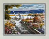 Path with Beach Chairs Print by T. C. Chiu