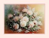 Peonies Bouquet Posters by T. C. Chiu