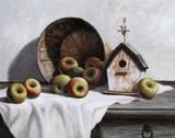 Birdhouse, Basket, Apple Prints by T. C. Chiu