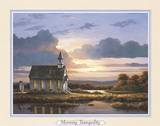 Peaceful Wood Church Posters by T. C. Chiu