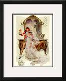 Vogue Cover - May 1912 Framed Giclee Print by F.x. Leyendecker