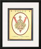 Vogue Cover - February 1917 Framed Giclee Print by F.x. Leyendecker