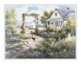 Country Home with Front Garden Print by T. C. Chiu