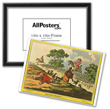 James Gillray (Hunting Scene) Art Poster Print Print
