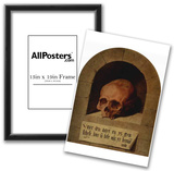 Bartholomew Bruyn d. A. (Skull in a niche) Art Poster Print Posters