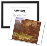 Carl Spitzweg (Hermits, violin playing) Art Poster Print Prints