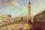 Canaletto (II) (Piazza San Marco) Art Poster Print Posters