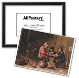 David Teniers d. J. (Three musicians farmers) Art Poster Print Prints