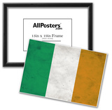 Ireland Flag Distressed Art Print Poster Posters