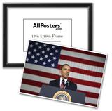President Barack Obama (Giving Speech) Art Poster Print Photo