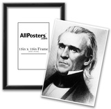 President James K Polk (Portrait, Face) Art Poster Print Posters