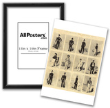 English lithographer to 1855 (The uniforms of the British Navy) Art Poster Print Prints