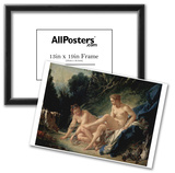 Francois Boucher (Diana in the Bath) Art Poster Print Prints