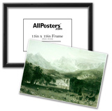 Albert Bierstadt Rockies at Lander's Peak Art Print Poster Prints