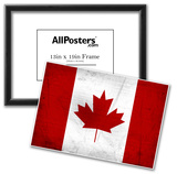 Canada Flag Distressed Art Print Poster Posters
