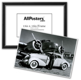 Amelia Earhart with Plane and Car Archival Photo Poster Print Poster