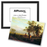 Albert Bierstadt Wind River Mountains in Nebraska Art Print Poster Posters