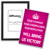 Your Courage Will Bring Us Victory (Motivational, Magenta) Art Poster Print Print
