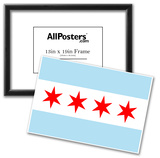 Chicago City Flag Poster Print Prints