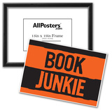 Book Junkie Art Poster Print Prints
