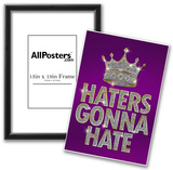 Haters Gonna Hate Purple Bling Poster Photo