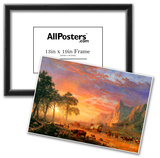 Albert Bierstadt The Oregon Trail Art Print Poster Poster