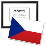 Czech Republic National Flag Poster Print Prints