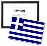 Greece National Flag Poster Print Prints